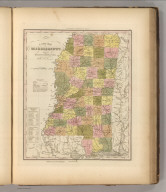 A New Map Of Mississippi With Its Roads & Distances by H.S. Tanner. Entered ... 1836 by H.S. Tanner ... Pennsylvania. Published by Carey & Hart Philadelphia. (above neat line) Tanner's Universal Atlas.