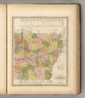 A New Map Of Arkansas with its Canals, Roads & Distances by H.S. Tanner. Entered ... 1841 by H.S. Tanner ... Pennsylvania. Published by Carey & Hart Philadelphia. (above neat line) Tanner's Universal Atlas.