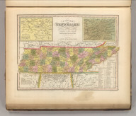 A New Map Of Tennessee With Its Roads & Distances from place to place, along the Stage & Steam Boat Routes. by H.S. Tanner. Engraved by J. & W.W. Warr. Entered ... 1841 by H.S. Tanner ... Pennsylvania. Published by Carey & Hart Philadelphia. (above neat line) Tanner's Universal Atlas.