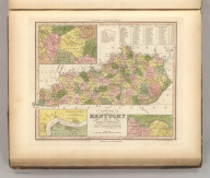 A New Map Of Kentucky With Its Roads & Distances from place to place, along the Stage & Steam Boat Routes. by H.S. Tanner. Engraved by W Brose. Philadelphia. Entered ... 1839 by H.S. Tanner ... Pennsylvania. Published by Carey & Hart Philadelphia. (above neat line) Tanner's Universal Atlas.