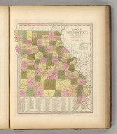 A New Map Of Missouri With Its Roads & Distances. By H.S. Tanner. Entered ... 1841 by H.S. Tanner ... Pennsylvania. Published by Carey & Hart Philadelphia. (above neat line) Tanner's Universal Atlas.