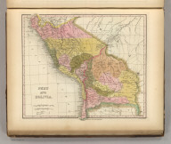 Peru And Bolivia. Engraved by J. & W.W. Warr. Published by Carey & Hart, Philadelphia. (above neat line) Tanner's Universal Atlas.