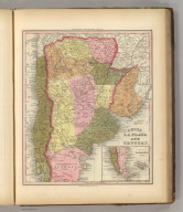 Chile, La Plata And Montevideo. Published by Carey & Hart, Philadelphia. (above neat line) Tanner's Universal Atlas.