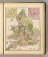 England. Philadelphia, Published by Carey & Hart. (above neat line) Tanner's Universal Atlas.