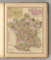 France. Engraved by J. & W.W. Warr. Philadelphia: Published by Carye & Hart.. (above neat line) Tanner's Universal Atlas.