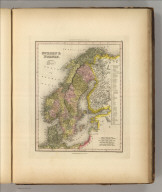 Sweden & Norway. Engraved by F. Dankworth. Philadelphia, Published by Carey & Hart (above neat line) Tanner's Universal Atlas.