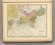 Prussia. Engraved by J. & W.W. Warr. Philadelphia Published by Carey & Hart. (above neat line) Tanner's Universal Atlas.