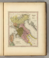 Italy. North Part. Engraved by E.B. Dawson. Philadelphia: Published by Carey & Hart (above neat line) Tanner's Universal Atlas.