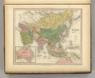 Asia. Engraved by J. & W.W. Warr. Published by Carey & Hart, Philadelphia. (above neat line) Tanner's Universal Atlas.