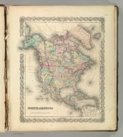 North America. No. 2. Published by J.H. Colton & Co., No 172 William St., New York. Entered according to the Act of Congress in the year 1855 by J.H. Colton & Co. in the Clerk's Office of the District Court of the United States for the Southern District of New York.