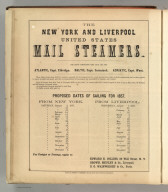 The New York and Liverpool United States Mail Steamers, New York. Printed by Henry B. Ashmead, George Street above Eleventh, Philadelphia.