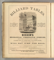 L. Decker, New York (billiard tables). Printed by Henry B. Ashmead, George Street above Eleventh, Philadelphia.
