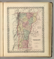 Vermont. No. 11. Published by J.H. Colton & Co., No 172 William St., New York. Entered according to the Act of Congress in the year 1855 by J.H. Colton & Co. in the Clerk's Office of the District Court of the United States for the Southern District of New York.