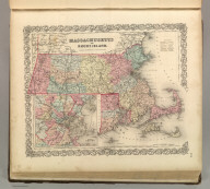 Massachusetts and Rhode Island. No. 12. Published by J.H. Colton & Co., No 172 William St., New York. Entered according to the Act of Congress in the year 1855 by J.H. Colton & Co. in the Clerk's Office of the District Court of the United States for the Southern District of New York.