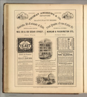 Thomas Andrews & Co., New York (cream of tartar, yeast powder, soda salaeratus). Printed by Henry B. Ashmead, George Street above Eleventh, Philadelphia.