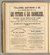 Fellows, Hoffman & Co., New York (gas fittings and chandeliers), E.W. Page, New York (oars, sweeps, and sculls), P. & F. Corbin, New Britain, Conn. (brass goods and hardware), Landers and Smith Manufacturing Company, New Britain (building and cabinet hardware , iron and brass castings). Printed by Henry B. Ashmead, George Street above Eleventh, Philadelphia.