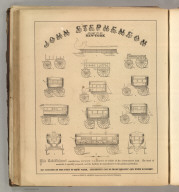 John Stephenson, New York (omnibuses, carriages, wagons, sleighs). Printed by Henry B. Ashmead, George Street above Eleventh, Philadelphia.