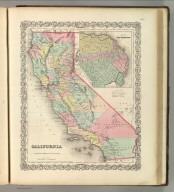 California. No. 52. Published by J.H. Colton & Co., No 172 William St., New York. Entered according to the Act of Congress in the year 1855 by J.H. Colton & Co. in the Clerk's Office of the District Court of the United States for the Southern District of New York.