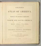 Title Page: Colton's American Atlas.