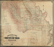 Official Map of the County of Yolo, California, Showing Roads, Railroads, Voting Precincts, School and Road Districts, Government Surveys and Private Ownership. Compiled and Pulished by P.N. Ashley, County Surveyor, Yolo County, 1908. Copyrighted by P.N. Ashley, February 1909.