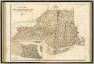 New York, Vermont, New Hampshire, Rhode Island, Massachusetts & Connecticut. Published by A. & C. Black. Edinburgh. Printed in Colours by Schenck & Macfariane. Edinburgh. Drawn & Engraved by J. Bartholomew, Edinburgh.