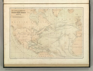 Chart Shewing (sic) the Communication between Europe, North America, and the Pacific. Published by A. & C. Black. Edinburgh. Printed in Colours by Schenck & Macfariane. Edinburgh. Drawn & Engraved by J. Bartholomew, Edinburgh.