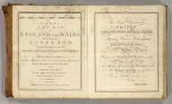 Title Page and Dedication: Cary's New Map of England And Wales, With Part Of Scotland.