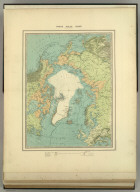 (Frontispiece) North Pole Chart by Keith Johnston F.R.G.S. Engraved, Printed and Published by W. & A.K. Johnston, Edinburgh & London. Frontispiece.