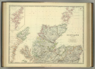 Scotland (northern sheet). (with) Shetland Islands. (with) Fair I. By Keith Johnston, F.R.S.E. Keith Johnston's General Atlas. Engraved, Printed, and Published by W. & A.K. Johnston, Edinburgh & London.