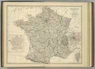 France in Departments. (with) France in Provinces. (with) Environs of Paris. (with) Corse. By Keith Johnston, F.R.S.E. Keith Johnston's General Atlas. Engraved, Printed, and Published by W. & A.K. Johnston, Edinburgh & London.