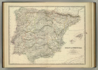 Spain & Portugal. By Keith Johnston, F.R.S.E. Keith Johnston's General Atlas. Engraved, Printed, and Published by W. & A.K. Johnston, Edinburgh & London.