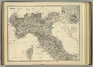 North & Central Italy and the Island of Corsica. (with) Environs of Rome. By Keith Johnston, F.R.S.E. Keith Johnston's General Atlas. Engraved, Printed, and Published by W. & A.K. Johnston, Edinburgh & London.