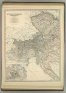 Austro-Hungarian Monarchy (western sheet). (with) Vienna. By Keith Johnston, F.R.S.E. Keith Johnston's General Atlas. Engraved, Printed, and Published by W. & A.K. Johnston, Edinburgh & London.