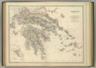 Greece. (with) Corcyra or Corfu. By Keith Johnston, F.R.S.E. Keith Johnston's General Atlas. Engraved, Printed, and Published by W. & A.K. Johnston, Edinburgh & London.