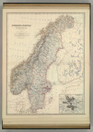 Sweden & Norway (Scandanavia). (with) Stockholm and its environs. By Keith Johnston, F.R.S.E. Keith Johnston's General Atlas. Engraved, Printed, and Published by W. & A.K. Johnston, Edinburgh & London.