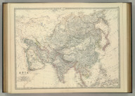Asia. By Keith Johnston, F.R.S.E. Keith Johnston's General Atlas. Engraved, Printed, and Published by W. & A.K. Johnston, Edinburgh & London.