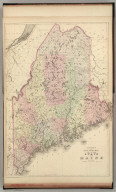 County and township map of the state of Maine. Copyright 1882 by Bradley & Company.