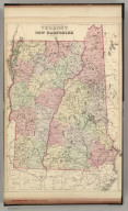 County and township map of Vermont and New Hampshire. Copyright 1882 by Bradley & Sons.