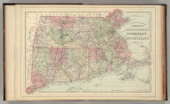 County and township map of the states of Massachusetts, Connecticut and Rhode Island. Drawn and engraved by W.H. Gamble, Philadelphia. Copyright by S. Augustus Mitchell 1884.