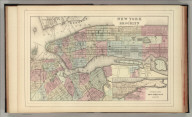 New York and Brooklyn. Copyright by S. Augustus Mitchell 1884.