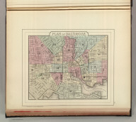 Plan of Baltimore. Copyright by S. Augustus Mitchell 1884.