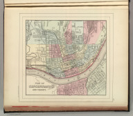 Plan of Cincinnati and vicinity. Copyright by S. Augustus Mitchell 1884.