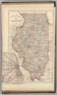 County & township map of the state of Illinois. (with) Chicago and vicinity. Copyright by S. Augustus Mitchell 1884.