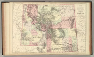 County & township map Montana, Idaho, and Wyoming. Entered by Wm. M. Bradley & Bro. 1884.