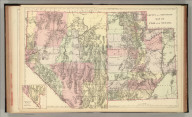 County and township map of Utah and Nevada. Copyright by Wm. M. Bradley & Bro. 1884.