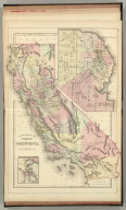 County map of the state of California. (with) San Francisco. (with) San Francisco Bay and vicinity. Copyright by S. Augustus Mitchell 1884.