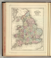 County map of England, and Wales. Copyright by S. Augustus Mitchell 1884.