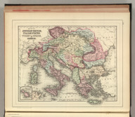 Map of the Austrian Empire, Italian States, Turkey in Europe, and Greece. (with) Maltese Islands. Copyright by S. Augustus Mitchell 1884.