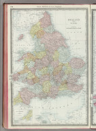 Rand, McNally & Co.'s England and Wales. (with) Scilly Islands and Lands End.