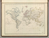 The World in Mercador's Projection. Engraved by J. Wilson Lowry. London - Published by Chapman and Hall, 186 Strand, 1847.